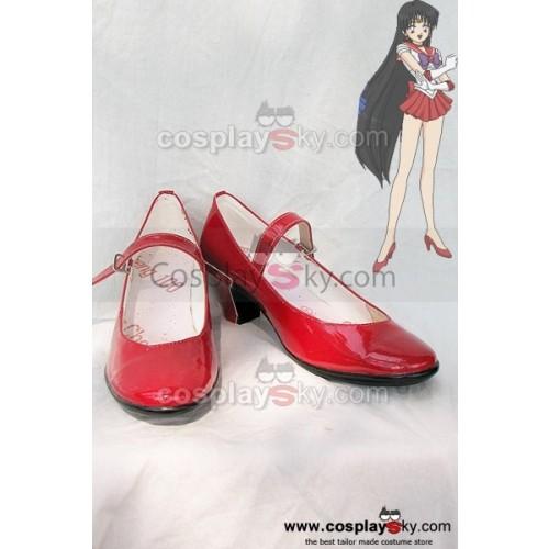 Sailor Moon Hino Rei Cosplay Shoes