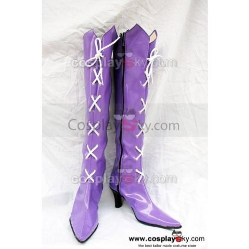 Sailor Moon Tomoe Hotaru Cosplay Boots Purple