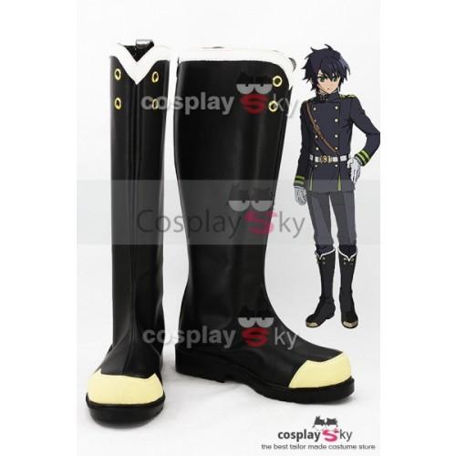 Seraph of the End Yūichirō Hyakuya / Shinoa Hīragi Boots Cosplay Shoes