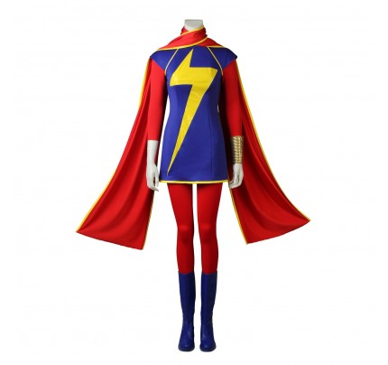 Ms. Marvel Cosplay Costume for Captain Marvel Cosplay