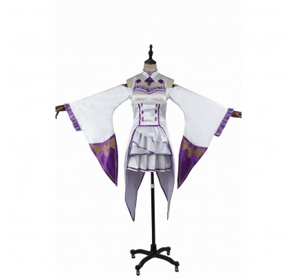 Emilia Costume for Re Life in a different world from zero Cosplay