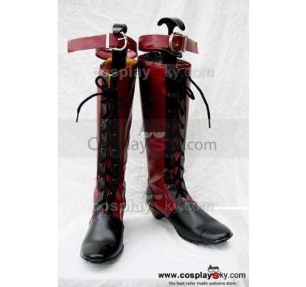 Black Butler Ciel Cosplay Boots Red Custom Made