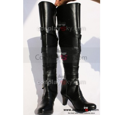 Black Butler Undertaker Cosplay Shoes Boots Custom Made